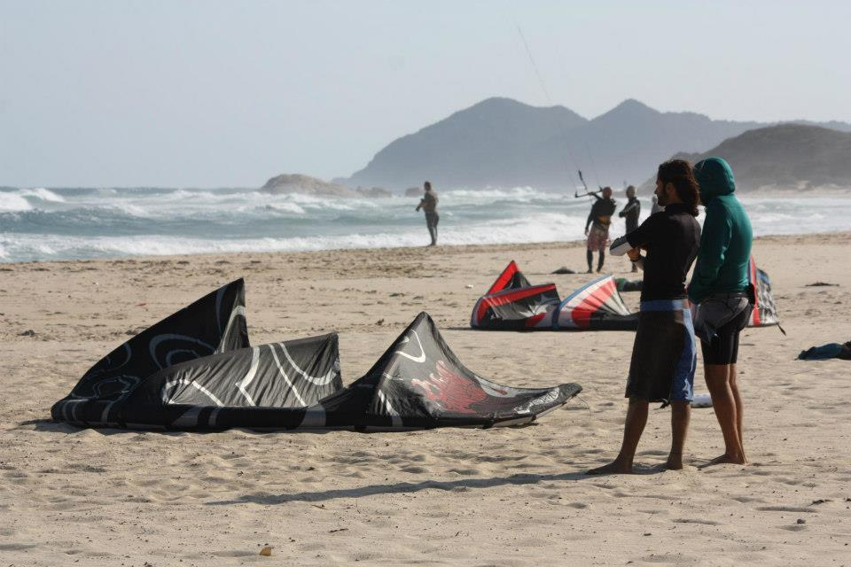 Kitesurfing Costa Rei, in the South of Sardinia. Wave spot for intermediate / advanced riders