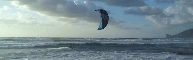 Kitesurfing Funtanamare in Sardinia: Wave Kite Spot in the South of Sardinia, great with wind of Mistral