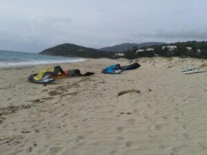 Kitesurfing Geremas Sardinia