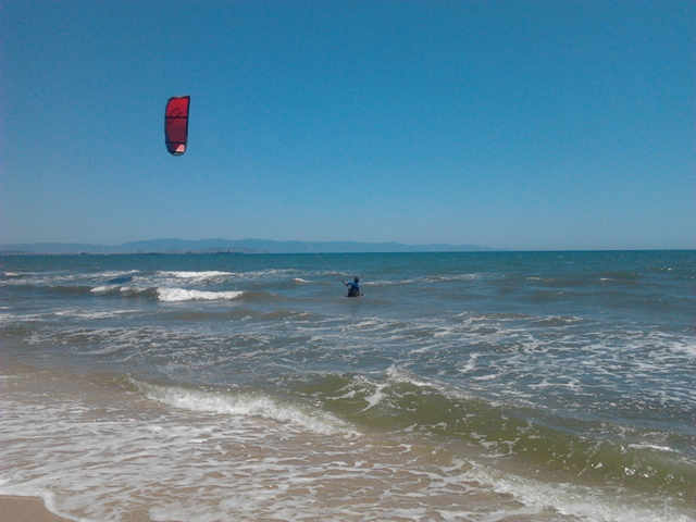 Kitesurfing Petrol Beach Cagliari Sardinia