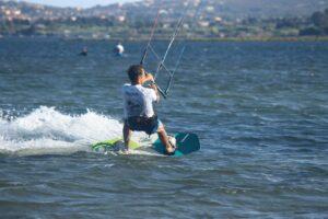 Kitesurfing in Punta Trettu