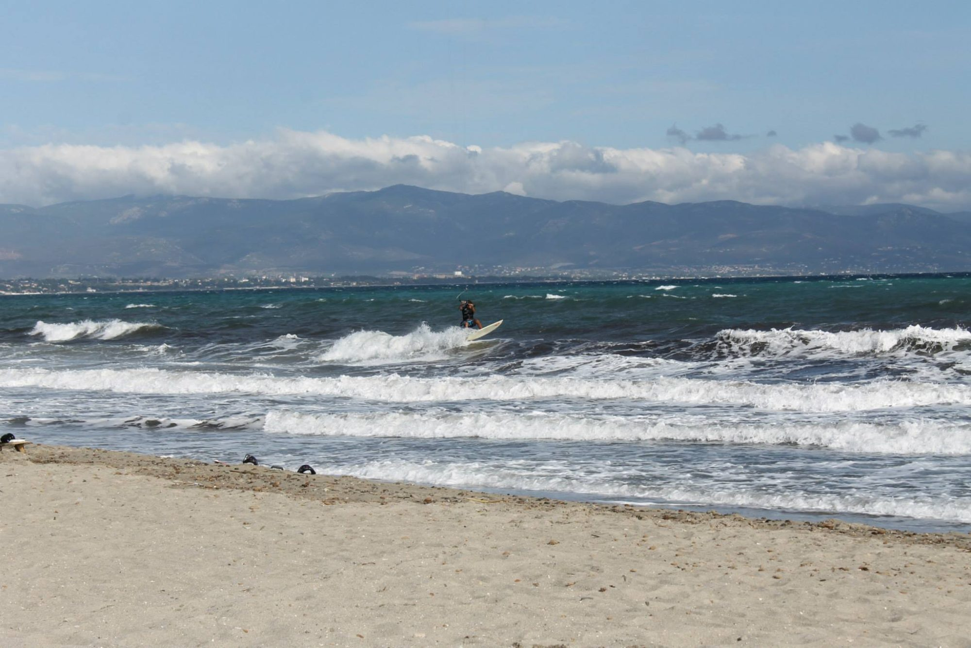 Kitesurfing Poetto Cagliari. Wave Session at Poetto Beach