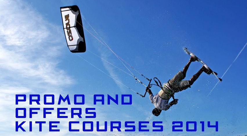 Promo Offers kite courses 2014
