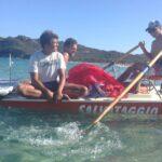 Lucas, Riccardo, Matias Kitesurfing Cala SInzias Sardinia September 2014