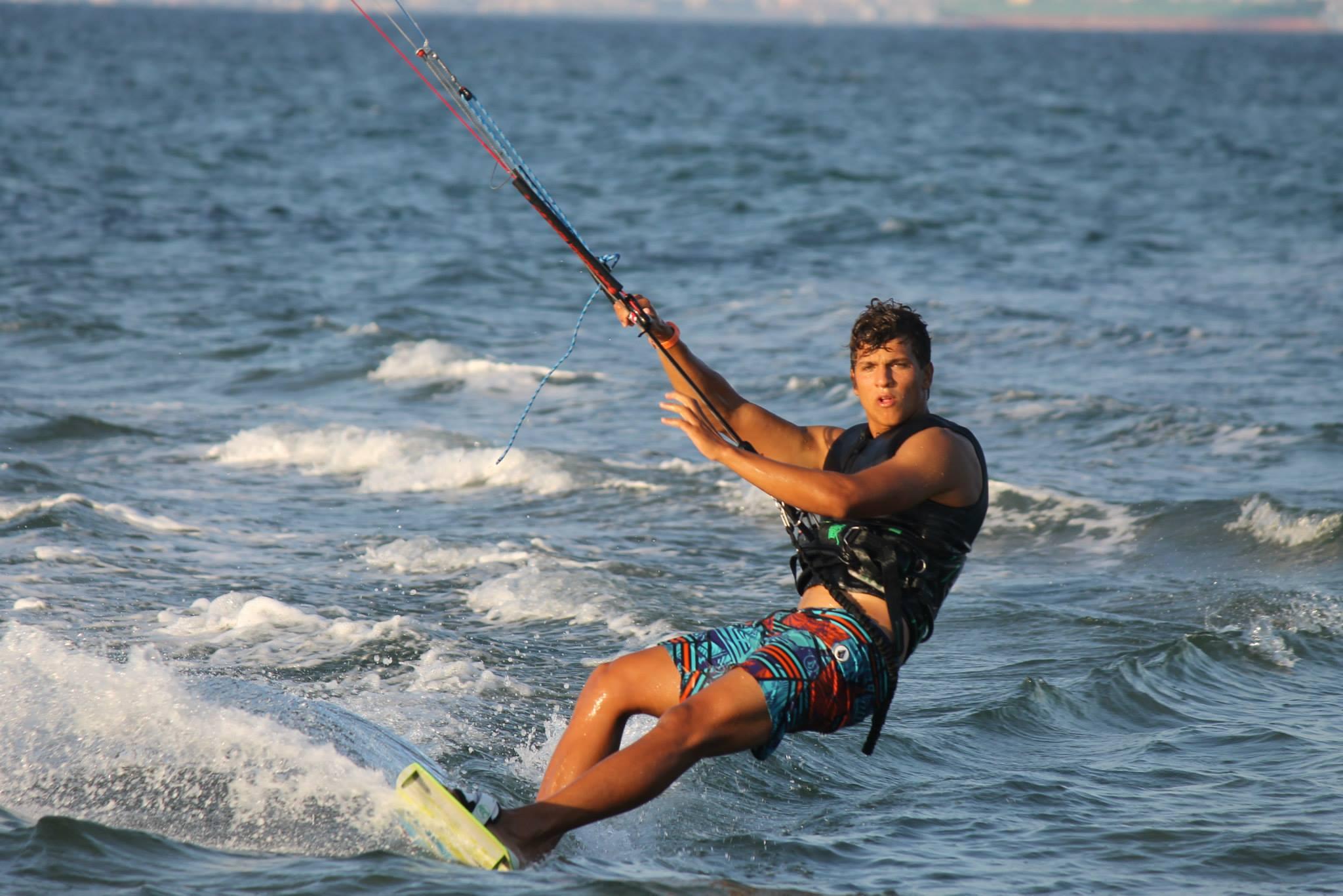 Kitesurfing La Maddalena Spiaggia Petrol Beach August 2014