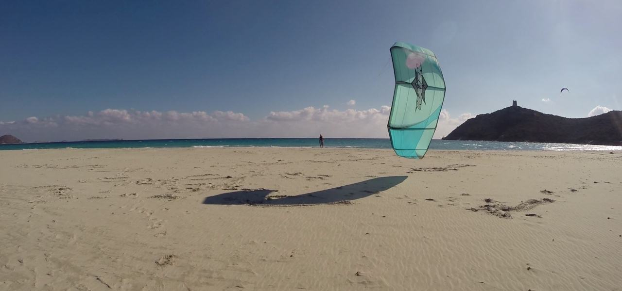 Sardinia Kitesurfing Spots: Kitesurfing Villasimius, great kite spot with North-East wind