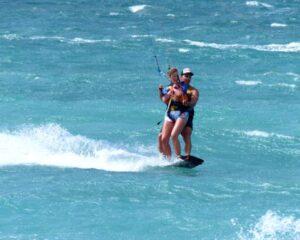 Tandem Kitesurfing in Sardinia