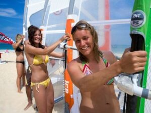 Windsurfing Lessons in Cala Sinzias Sardinia