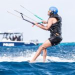 Barack Obama while kiteboarding