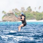 Obama learning to Kitesurf: water start phase