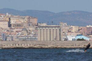 Kitesurf at Giorgino Kite Beach Cagliari Sardinia