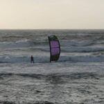 Kitesurf at Funtanamare, Sardinia. One the the Wave Kite Spots of Sardinia, great with the wind of Mistral