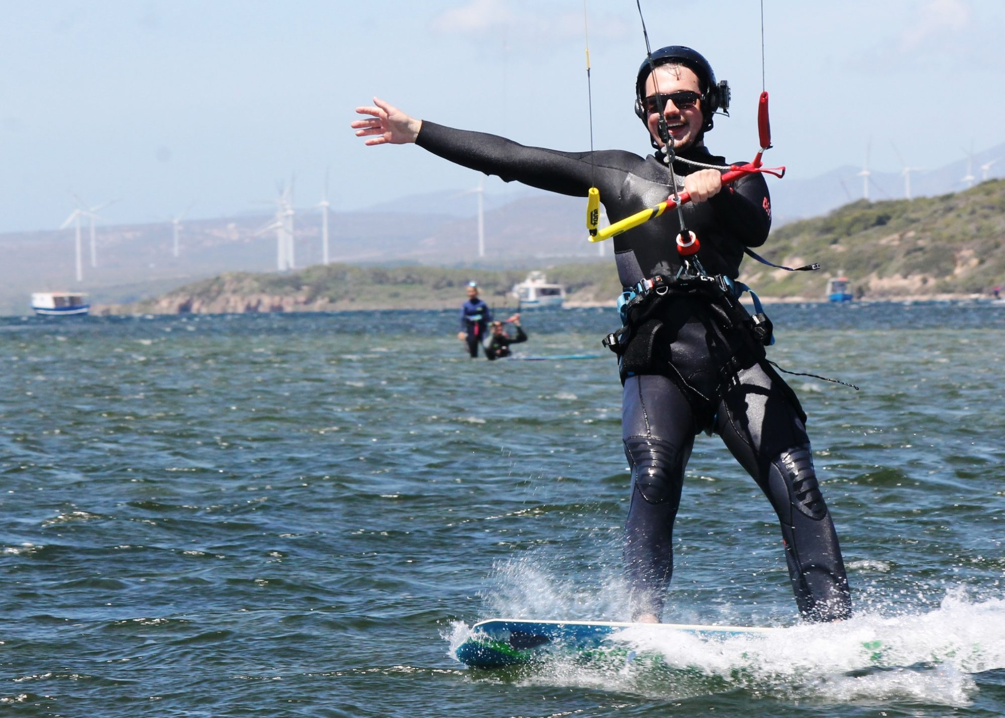 Kite Lessons with a Personal Trainer Instructor Guide in Sardinia