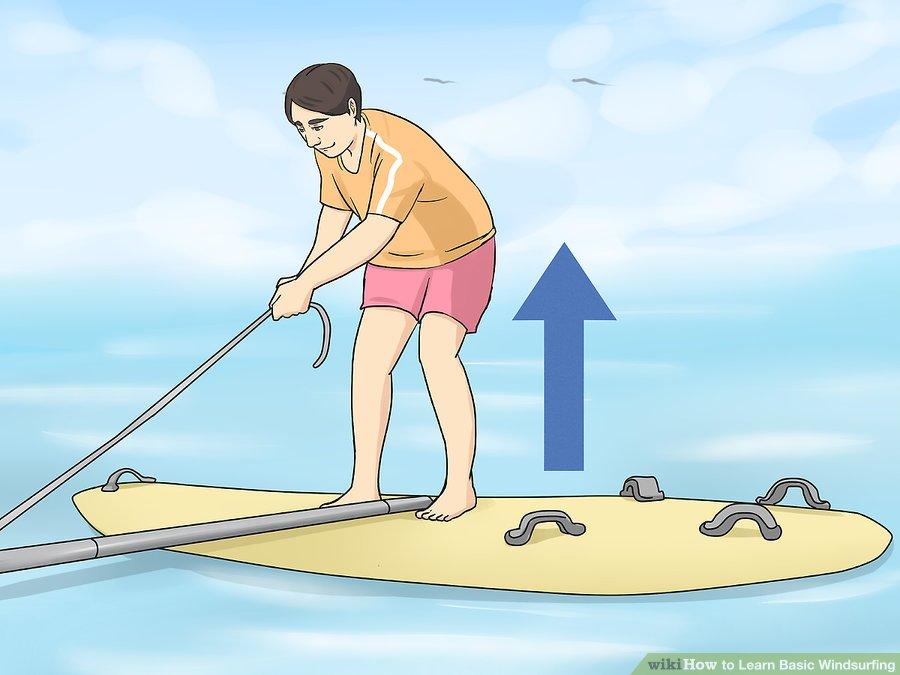 Learn Windsurfing Step-07 - Windsurf Basic of Starting Raise to your feet on the windsurf board