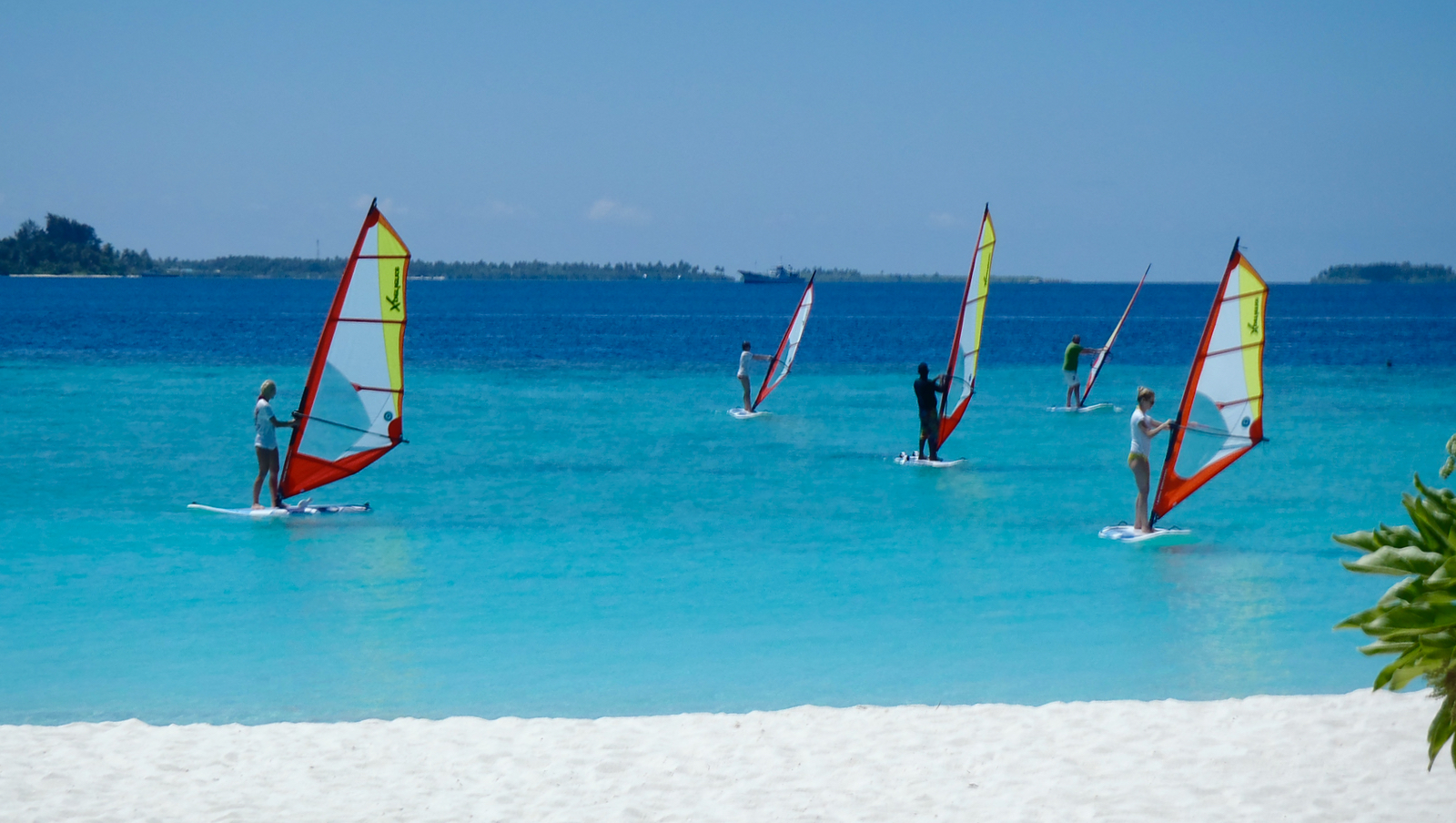 Learning Steps in a Windsurf Course