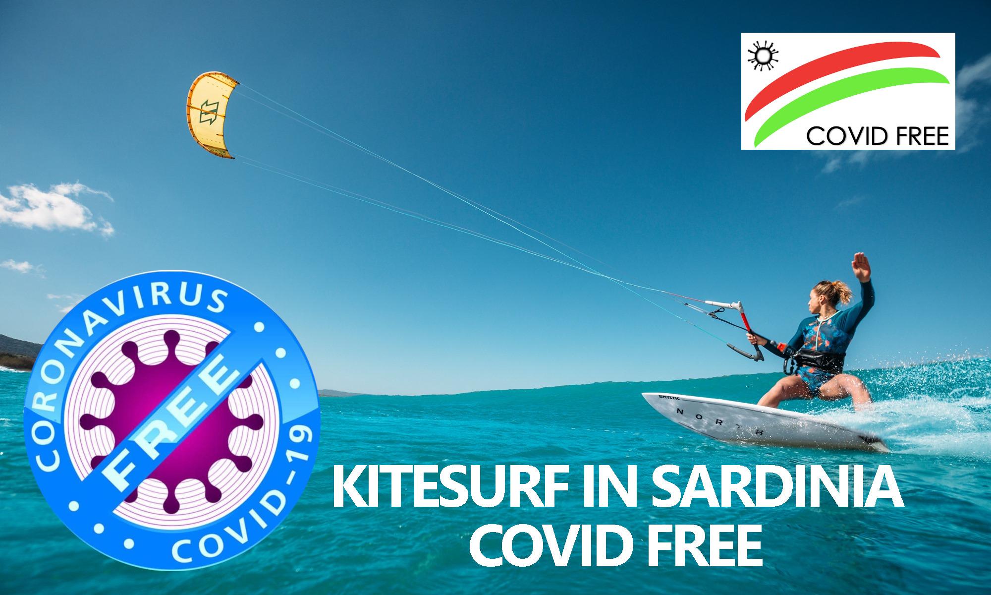 Kitesurfing in Safety with no Corona Virus - Kitesurf is sardinia Covd Free