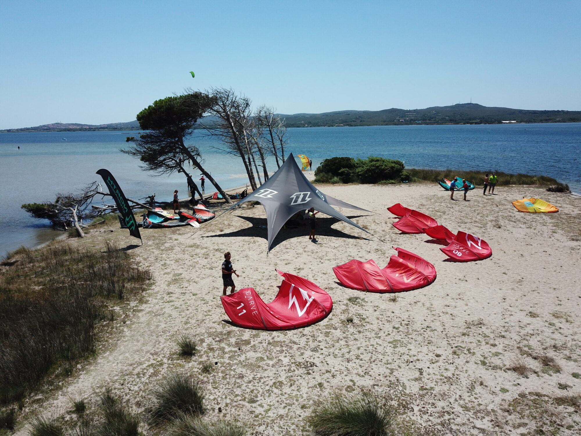 The Kite Beach of Punta Trettu in Sardinia